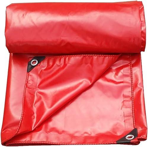 L-BHQF Couvertures imperméables de Feuille de Sol de bache de Tarpauline imperméable résistant de Tissu de Jardin d'épaississement pour Le Camping - 550G   M (Taille   4x6m)