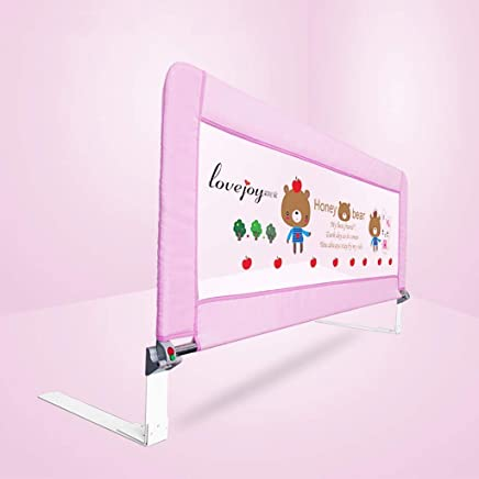 WANNA ME Baby Playpen Infant child anti-fall bed guardrail vertical lifting fence baby anti-falling bed side baffle  one side  Strong And Durable Made From Non-To  color Size 200X71cm
