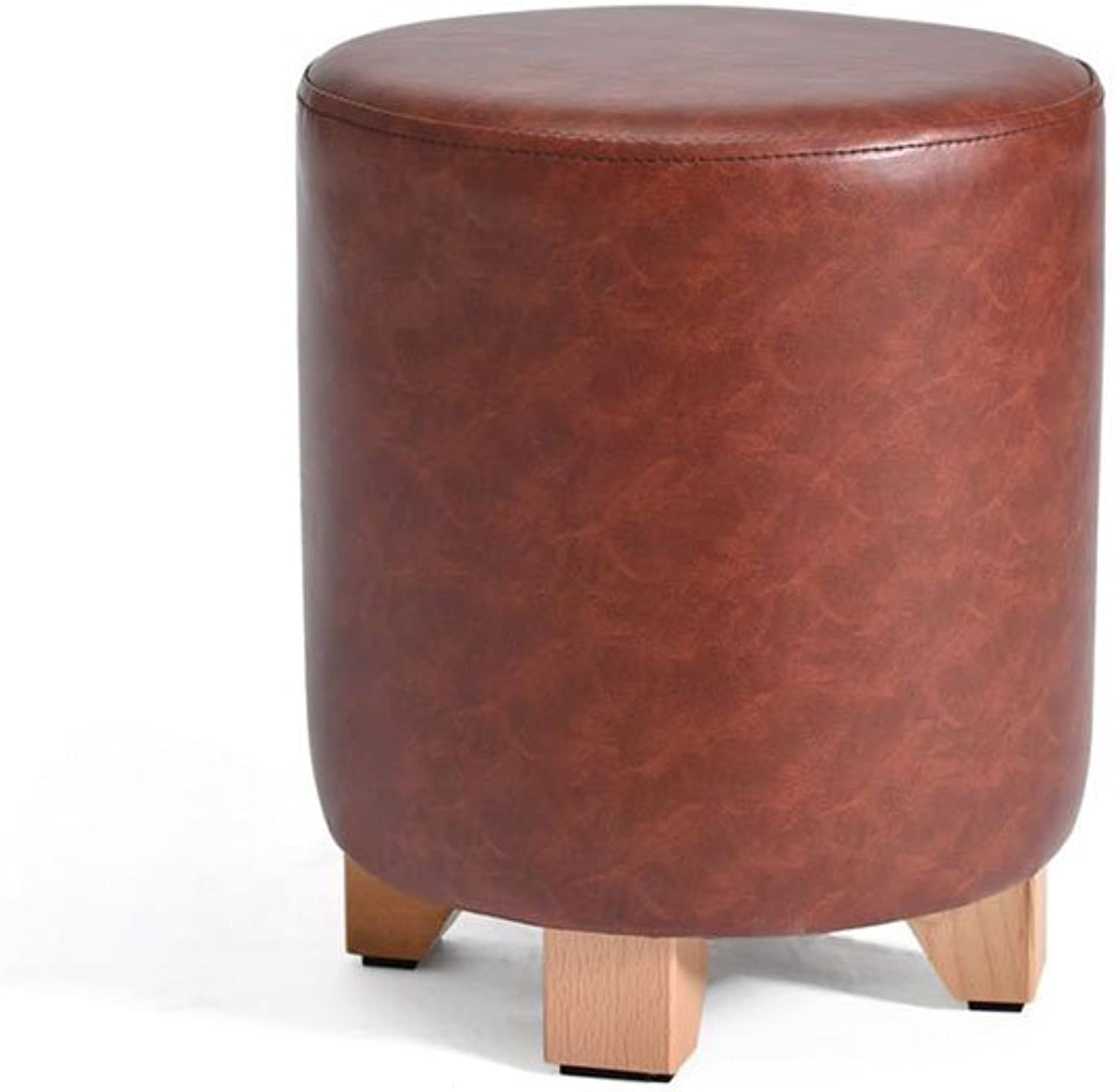 CJC Wooden Stool Household Refinement Small Easy to Carry 2 colors Home Office Furniture Kitchen (color   1)