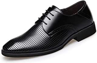 Men's Lace Up Derby Shoes Summer Sandals Business Formal Dress Shoes Wedding Shoes