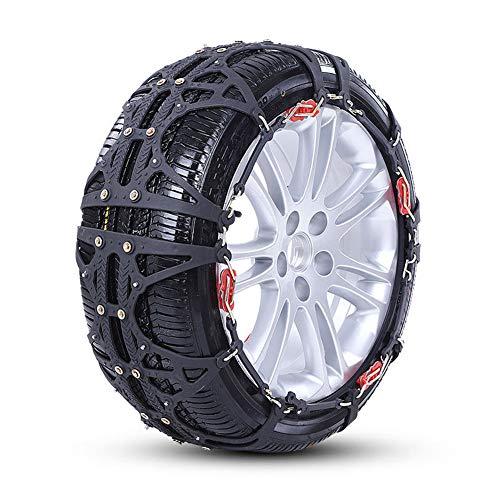 JT Voiture Pneu Anti Skid Chain Cars SUV Hiver Général Chaînes De Neige Épaississement,Black,XL