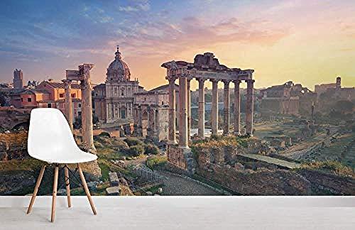 ZZXIAO Rom Forum Wallpaper Wandbild wandpapier fototapete 3d effekt tapete Wohnzimmer Schlafzimmer Hintergrundbild-400cm×280cm
