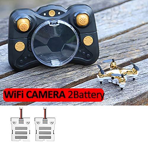 Delili Mini-Drone pour Les Enfants/Débutants, Petit Modèle Drop pour Enfants Jouets Rechargeables Grand Cadeau/Jouets pour Garçons Et Filles,d'or,2 Batteries