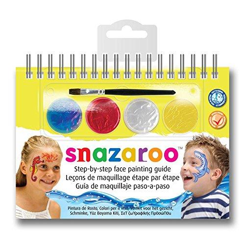 Snazaroo - Manual A6 de maquillaje con pintura facial y guía, maravillas marinas