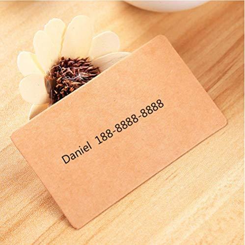 Miner 100 vellen doos blanco kaart kraftpapier blanco briefkaart blanco woordkaart handgeschilderde graffiti oude kaart cadeaubon klein cadeaustation, bruin