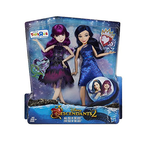 Exclusive Disney Descendants 2 Mal and Evie 2 Pack Doll Set