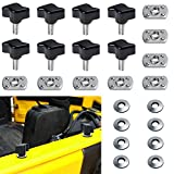 Danti Universal Jeep Wrangler Hard Top Quick Removal Fastener Thumb Screw and Nut Kit for Jeep Wrangler YJ TJ JK JKU Sports Sahara Freedom Rubicon X & Unlimited X 2/4 door 1995-2017