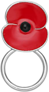 MANZHEN Lovely Enamel Red Poppy Flower Magnetic Clip Magnetic Eyeglass Holder Brooch Jewelry