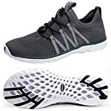 SUOKENI Men's Quick Drying Slip On Water Shoes for Beach or Water Sports Darkgrey,Size:US 13/EU 47