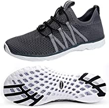 SUOKENI Men's Quick Drying Slip On Water Shoes for Beach or Water Sports Darkgrey,Size:US 10.5/EU 44
