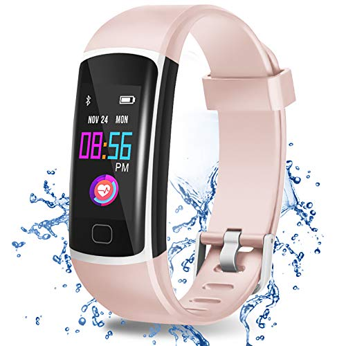Airbinifit Fitness Tracker, Fitness Tracker Watch, Activity Tracker with Heart Rate Monitor, Waterproof Fitness Watch with Sleep Monitor, Step Counter, Calorie Counter, Pedometer Watch for Women Men