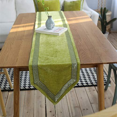 Yinglihua Tafelmat Groene Tafelmat Vintage Prachtig Geborduurd Katoen Polyester Tafelloper Met Vintage En Elegante Tafeldecoratie Huisdecoratie Bruiloft banketdecoratie
