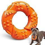 EASTBLUE Kauspielzeug für Aggressive Kauer: Nahezu unzerstörbares Naturkautschuk Welpen-Spielzeug, langlebig und robust für mittelgroße und große Hunde