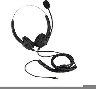 OKBY Draadloze Telefoon Headset 2.5mm -Lossless Sound Call Center Hoofdtelefoon 360 ° Rotary Oorbeschermers Call Center He...