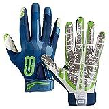 GRIP BOOST Stealth Pro Elite American Football Receiver Handschuhe - Navy/grün Gr. L