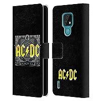 Head Case Designs オフィシャル ライセンス商品 AC/DC ACDC ブラック・アイス ソング・タイトル Motorola Moto E7 専用レザーブックウォレット カバーケース
