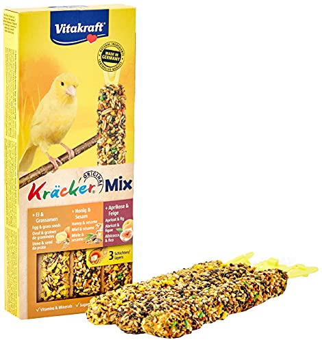 Vitakraft - 21229 – Mix de Kräcker (Semillas de Hierba, Albaricoque, Higo de Miel), Canarios -80 g.