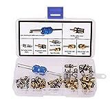 Starall - Kit di attrezzi per sostituzione dei nuclei delle valvole Schrader, per aria condizionata da auto, refrigeratori a R134A e pneumatici