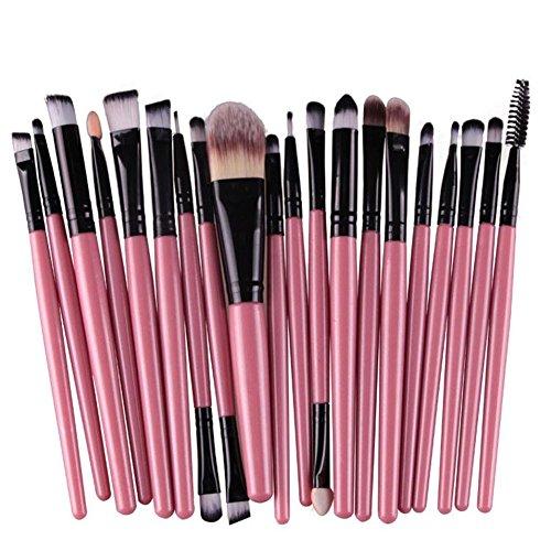 Oyfel Pincel Maquillaje Profesional sintéticas para Sombra de Maquillaje Blush Fundación Highlighter...