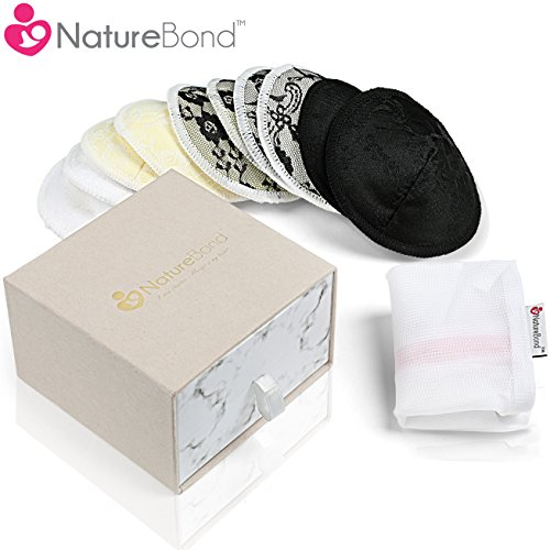 Protectores lavables para lactancia hechos de bambú orgánico, de NatureBond (10 piezas) | Protectores…