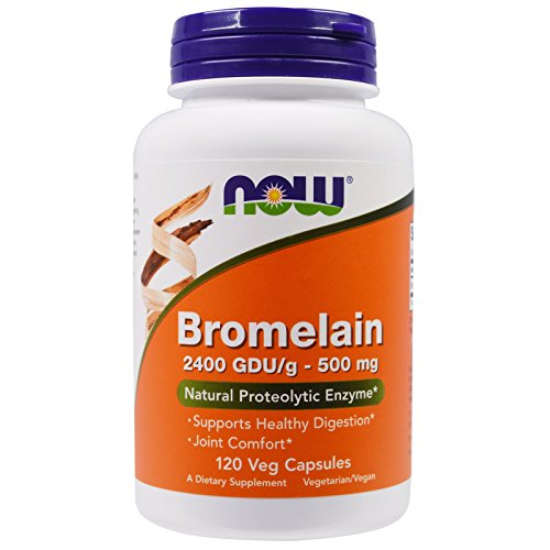 Now Foods Bromelain 2400Gdu/500mg, 120 Vcaps (Pack of 2)