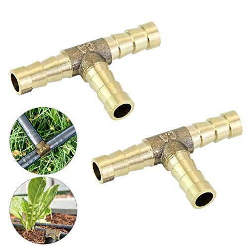 FAVENGO 2Stk Messing T Stück T Verbinder Messing 8mm Messing Verbinder 3 Wege T Schlauchverbinder für Kraftstoff Luft Wasser Gas Öl