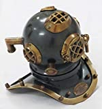 THORINSTRUMENTS (with device) US Navy Deep See Divers Helmet Beautiful Antique Decorative Diving Helmet Desk Nautical Replica by Vintage Armour Store