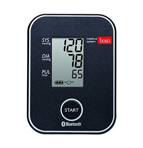 boso medicus system – Kabelloser Blutdruckmesser für die Messung am Oberarm mit Arrhythmie-Erkennung – Inkl. Universal-Zugbügelklettenmanschette (22-42cm)