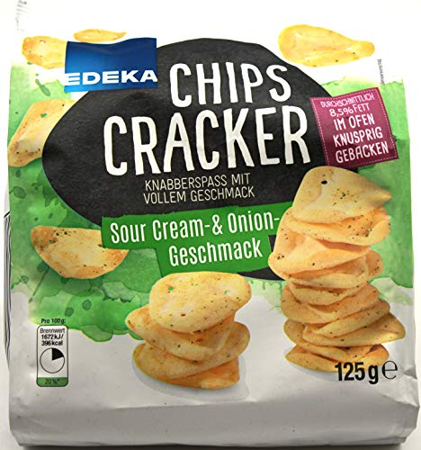 Edeka Chips Cracker Sour Cream & Onion Gescmack, 12er Pack (12 x 125g)