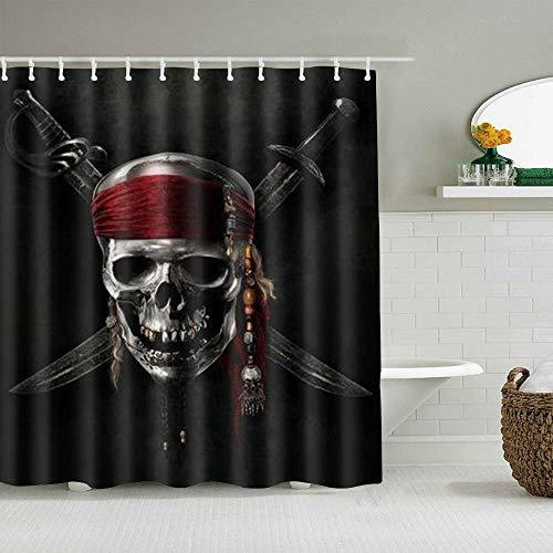 Dekoration Duschvorhang,Thanksgiving,Weihnachten Pirat,Bad Gardinen Stoff Stoff Bad Dekor Dekor Set mit Haken (150x180cm)