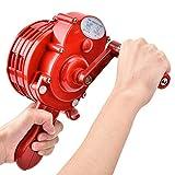 Manivela de mano, sirena de alarma portátil, manivela de mano, sirena de protección contra el aire de bomberos, rojo