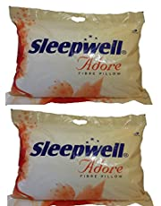 Sleepwell Adore Fibre Pillow (Multicolour) Pack of 2
