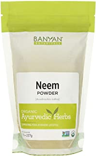 Banyan Botanicals Neem Powder - USDA Organic - 1/2 Pound, Azadirachta Indica - Ayurvedic Herb for Skin & Blood*