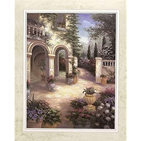 Tuscan Courtyard Ii By Vivian Flasch 22x28 Inch Art Print Poster Posters Prints
