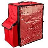 CityBAG - Mochila isotérmica 39 x 50 x 25 cm roja para Comidas al Aire Libre y Entrega de Pedidos de Comida en Moto o Bicicleta