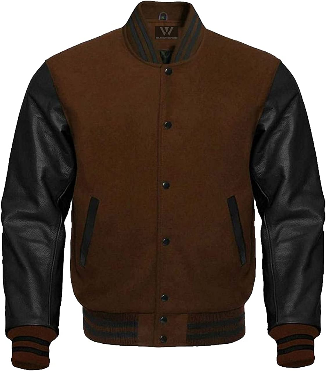 Baseball Letterman Bomber School College Jacket Cheap sale A surprise price is realized Varsity Brown Wo