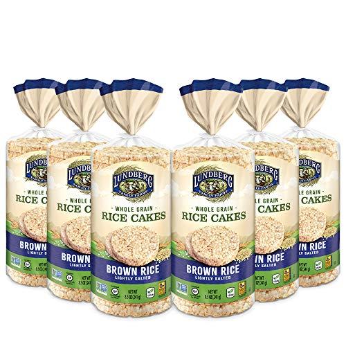 Lundberg Brown Rice Cakes Gluten-Free, Vegan, Whole Grain, Kosher, Non-GMO Verified Lightly Salted, 51 Ounce
