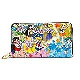 Sailor Moon Water Ice Moon - Cartera de piel de primera calidad, soporte para tarjetas de crédito para niñas y mujeres, regalo perfecto para madre/hija/novia