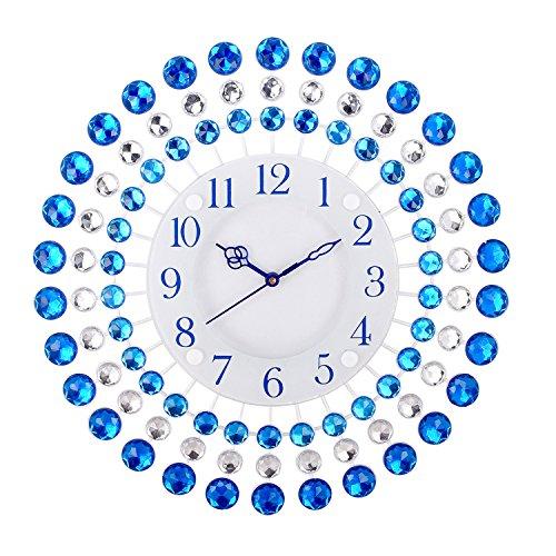 CHRONIKLE Iron Wall Clock (36 x 36 x 4 cm, Blue)