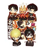 5Pcs Figura Pop Attack On Titan Anime Swing Collection 2 Cápsula De Juguete Eren Jaeger Erwin Smith Levi Ackerman Zoe Lenz Figura Regalo 5Cm