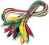 McPower GT-1810 - Juego de pinzas de cocodrilo (10 piezas, 50 cm de longitud de cable)