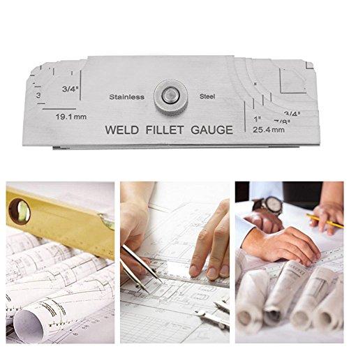 Stainless Steel Welding Gauge,Welding Gauge Gage Test Ulnar Welder Inspection Gauge Both Inch and Metric,Fillet Weld Gauge Photo #6