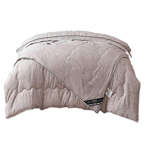 VEDKYY Duvet Double 13.5 Tog Cotbed Duvet King Size Duvet 15 Tog All Seasons Anti Allergy Double Quilt Climate Control Heavy Duvet Lightweight Queen Quilts, 2 in 1,Gray,King (4.5+10tog)
