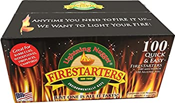 Box of 100 fire-starters lightning nugget