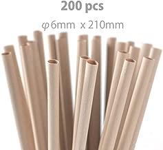 BambooFiberStraw 竹繊維ストロー 210mm×6mm 200本入り