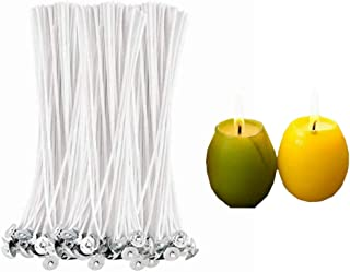 """Yosoo 100 Pcs 20cm/7.9"""" Low Smoke Soy Wax Natural Candle Wick for Making Votive, Container and Pillar Candles"""