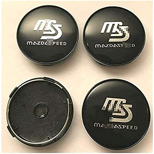 4 Piezas Coche Centro Tapacubos Para Mazda Speed MS MX3 CX3 CX5 2 3 6 323 626 RX8 RX7 60mm, Tapas Prueba Polvo Impermeable Tapas Llantas Pegatinas Accesoriosetiqueta Engomada