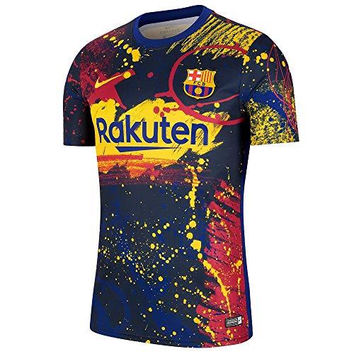 NIKE FCB M NK BRT Top SS PM 2 Shirt, Dark Obsidian/Varsity Maize, M Mens