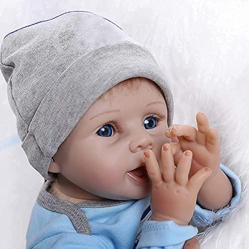 ZIYIUI Reborn Muñecas Bebé 22 Pulgadas 55 cm Suave Vinilo de Silicona Bebe Reborn Niño Lifelike Realista Regalo de Juguete Reborn Dolls