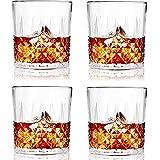 SZMMG Vasos de whisky – 326 ml únicos Old Fashion Rocks, perfectos para beber licor, whisky, whisky y cócteles de moda antigua, juego de 6 vasos de barra sin plomo, regalos para hombres